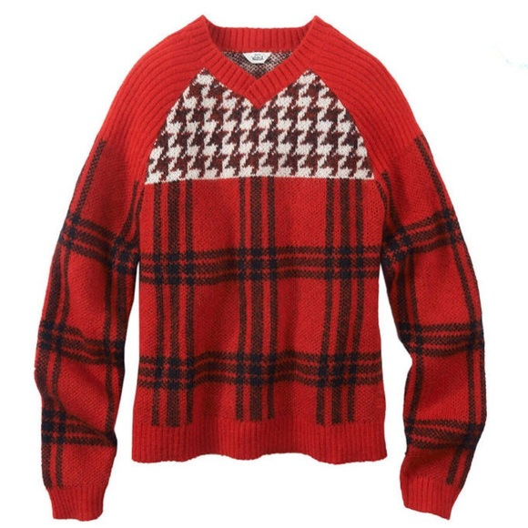 Woolrich Sweaters - WOOLRICH Womens Patterned Cropped V-Neck Sweater